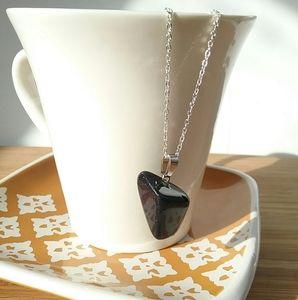Deep Blue Goldstone Irregular Stone Necklace